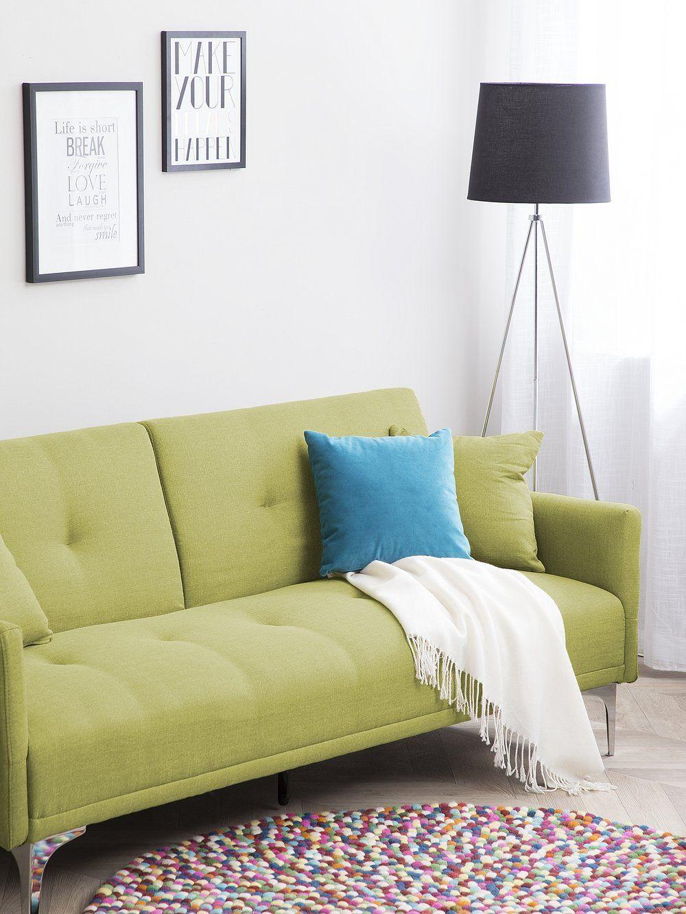 Sofa Z Funkcja Spania Zielona Kanapa Rozkladana Wersalka Lucan