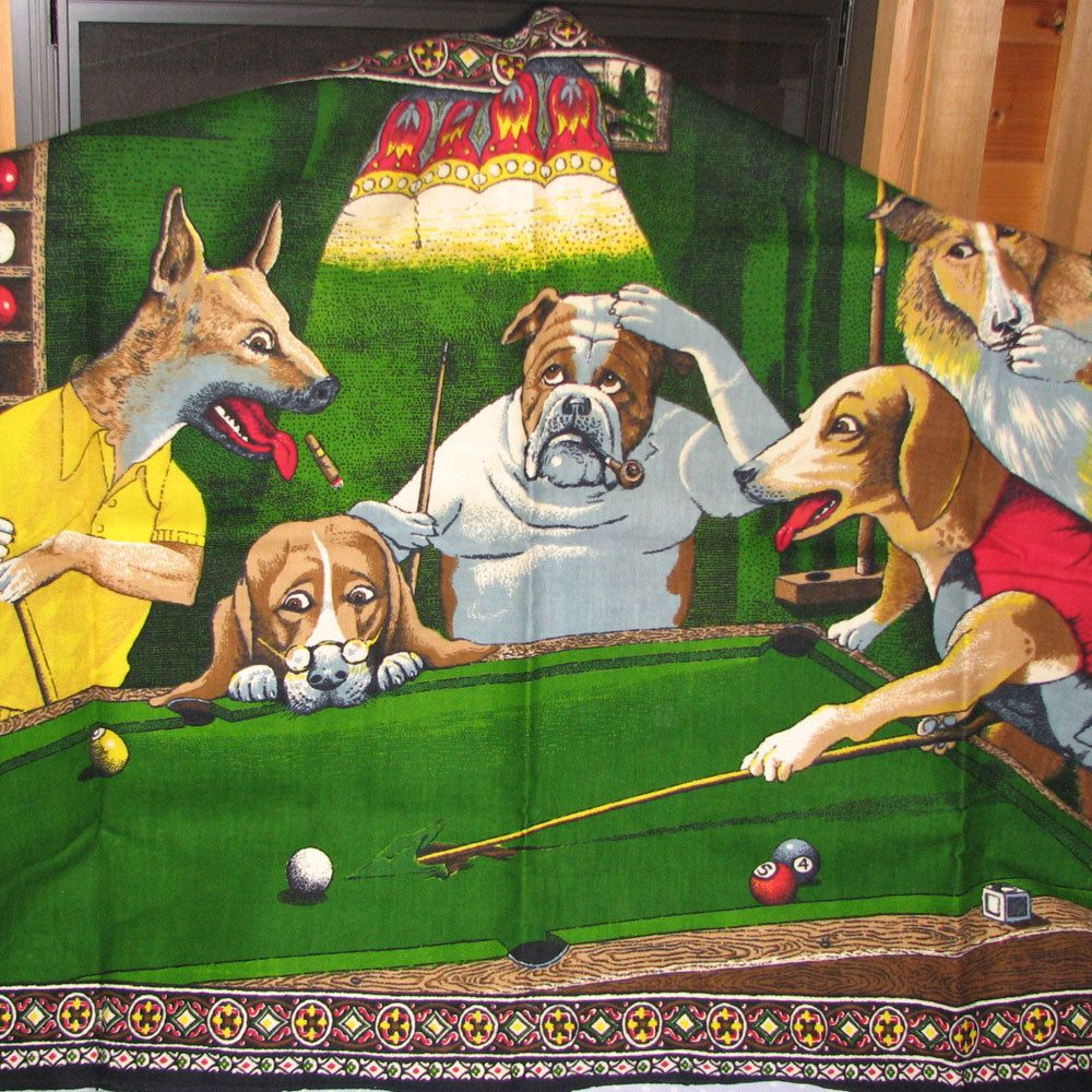 Dogs Playing Pool Wall Hangings With Photos Wholesale