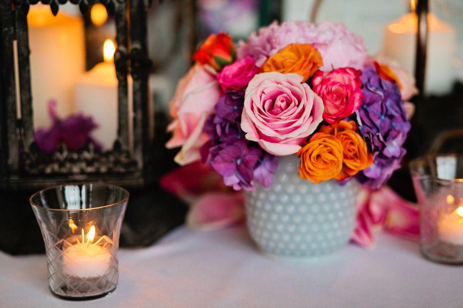 Spring Wedding Centerpiece Pink Orange Purple Onewed 5 Best Free Home Design Idea Inspiration