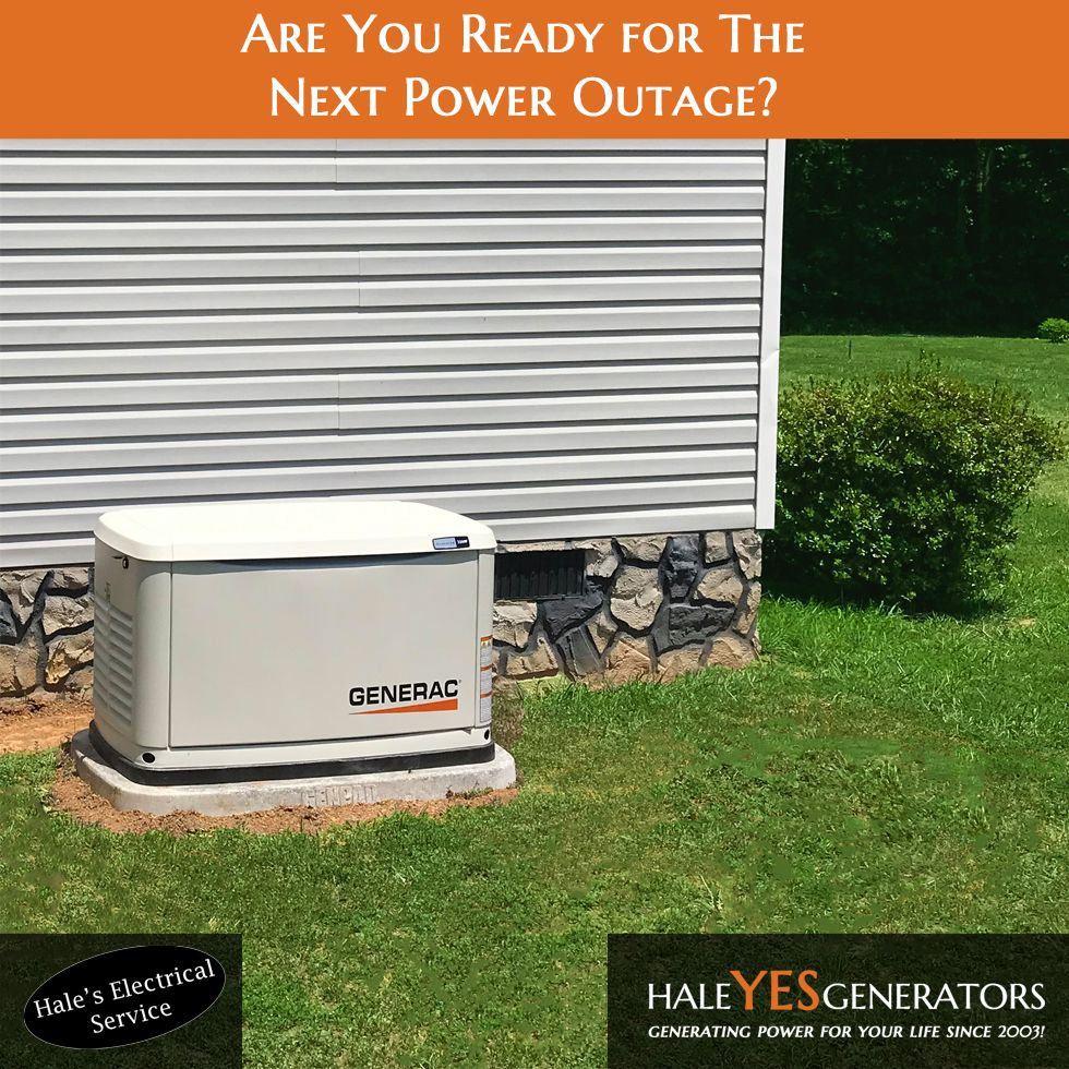 Take Control Of Your Power Before The Next Outage With A Generac Automatic Standby Generator Installed B Building A New Home Power Outage Tips Backup Generator