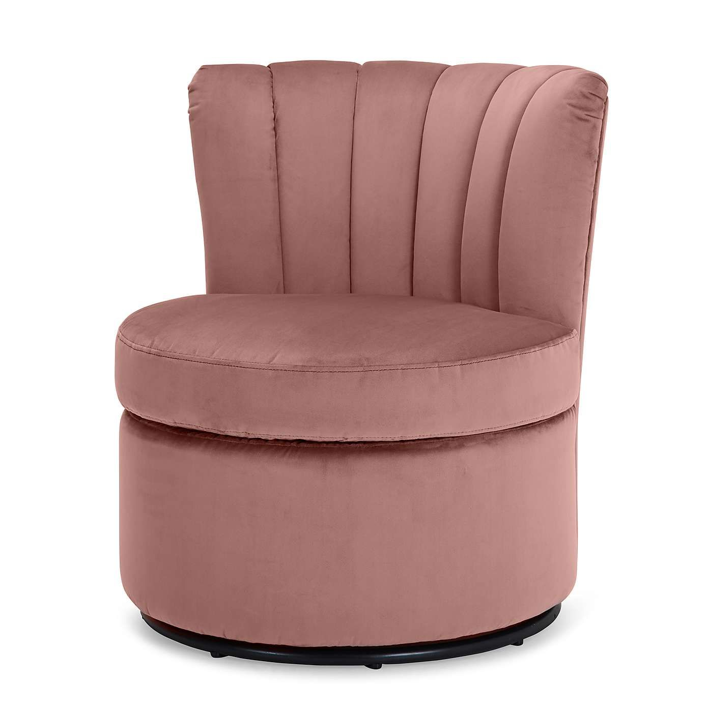 Esme boudoir swivel chair blush pink with images