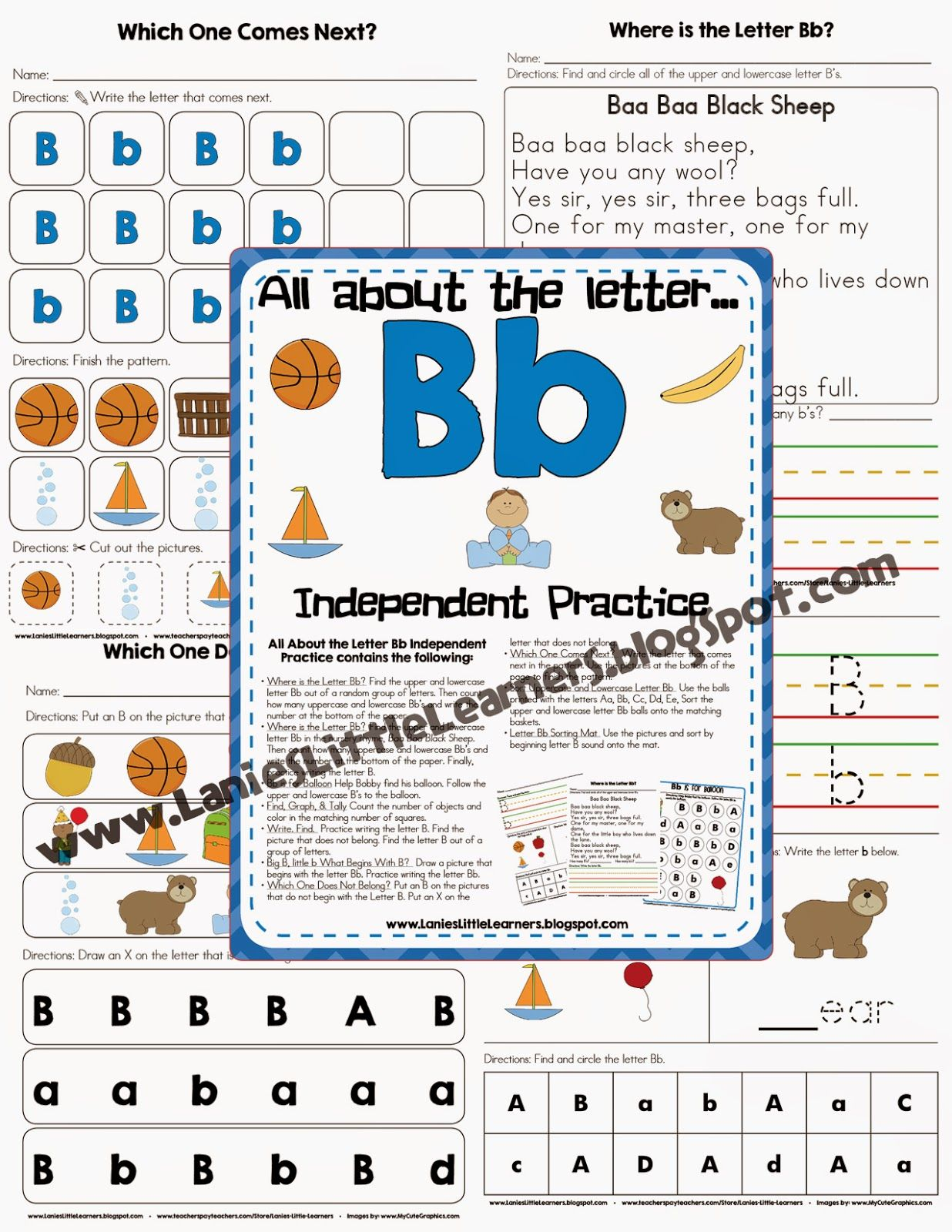 Lanie S Little Learners All About The Letter B