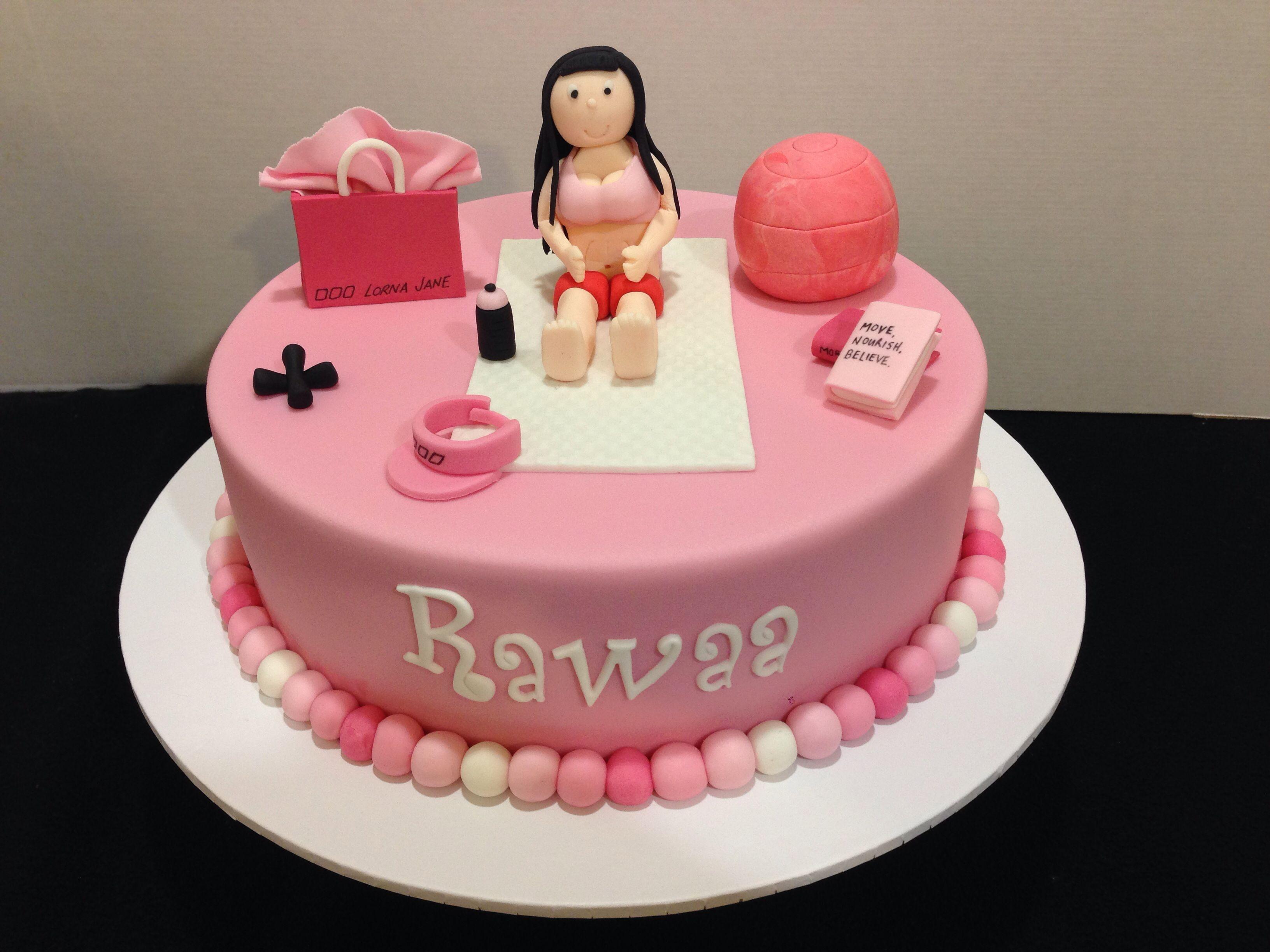 Birthday Cake Images Gym : Fitness girl birthday cake Sweetsbysuzie follow me on ...
