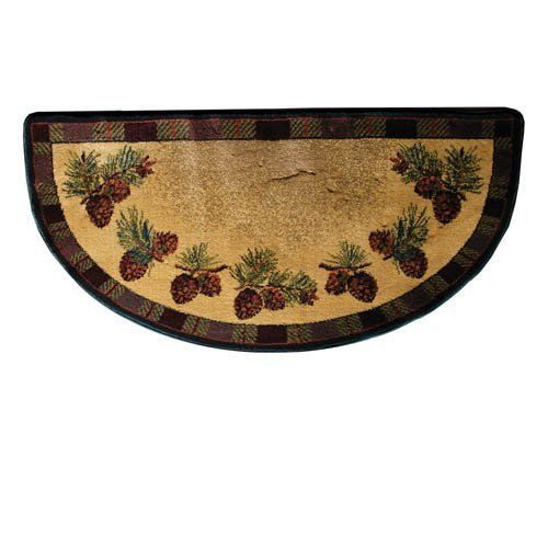 Goods Of The Woods Lodge Half Round Hearth Rug 47
