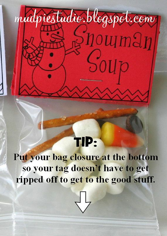 Christmas Treat Bag Topper Labels Digital File by themudpiestudio