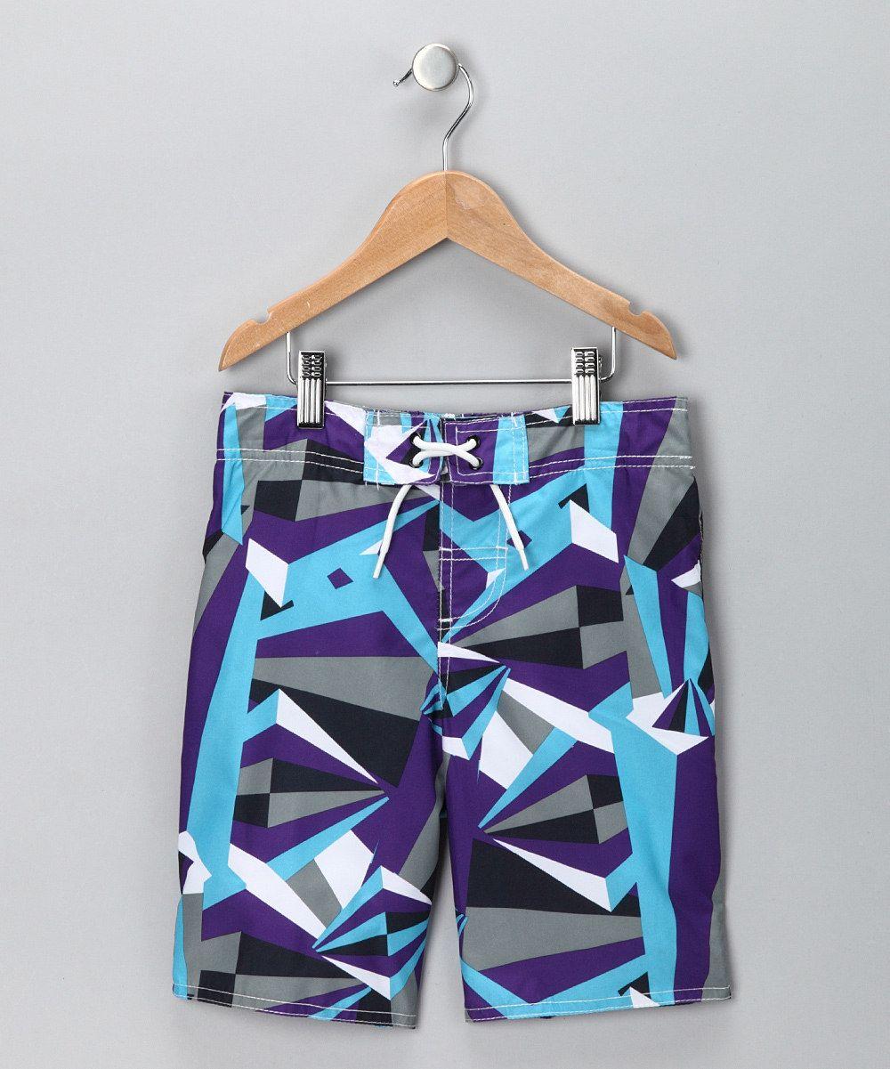 16a0d5cfcdd Purple Diamond Swim #Trunks on #zulily   Toddler Boys: Little ...