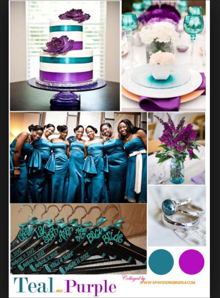 Purple And Teal Wedding Colors These Are My Colors With A Splash