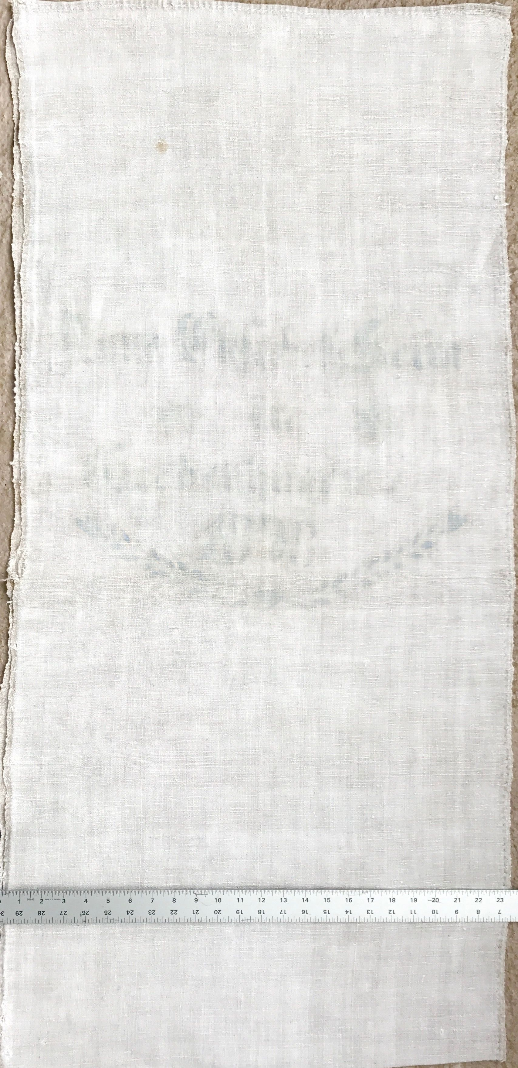 Original Historic German Grain Flour Sack Batch 37 Print Color Light Blue