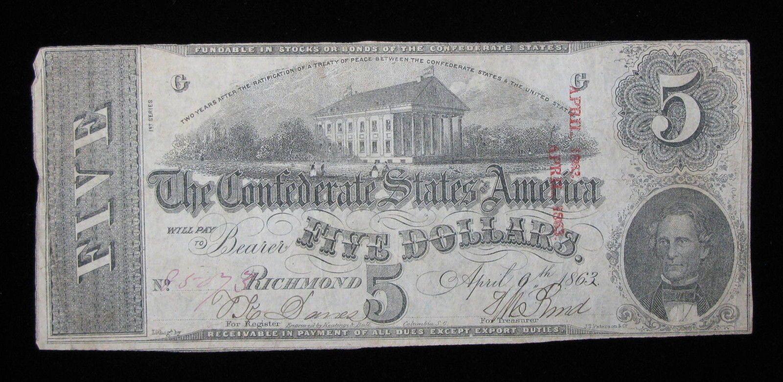 New Post 5 Civil War Era Confederate States Of