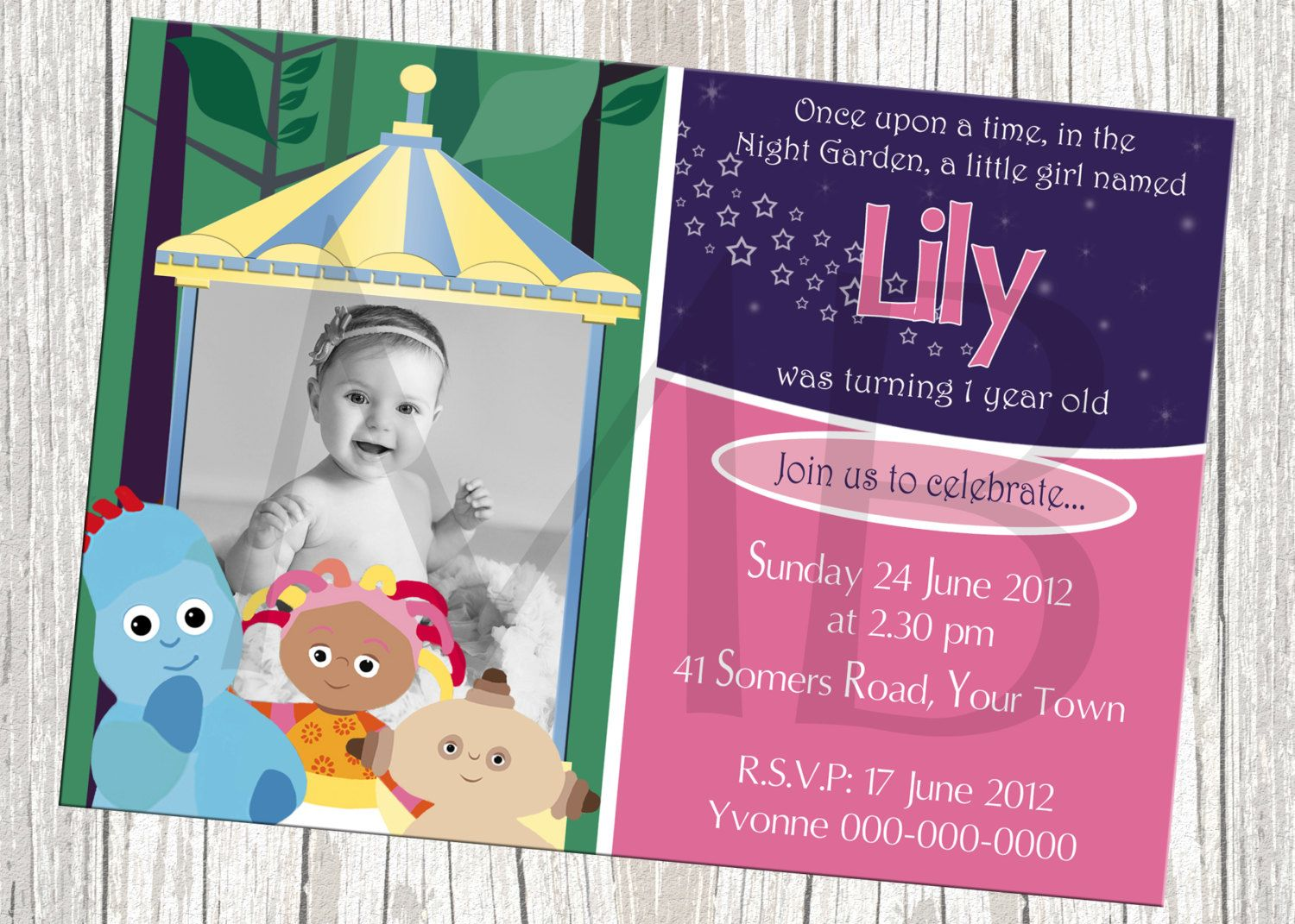 In The Night Garden Birthday Invitation with by mommybrain2designs – In the Night Garden Birthday Invitations