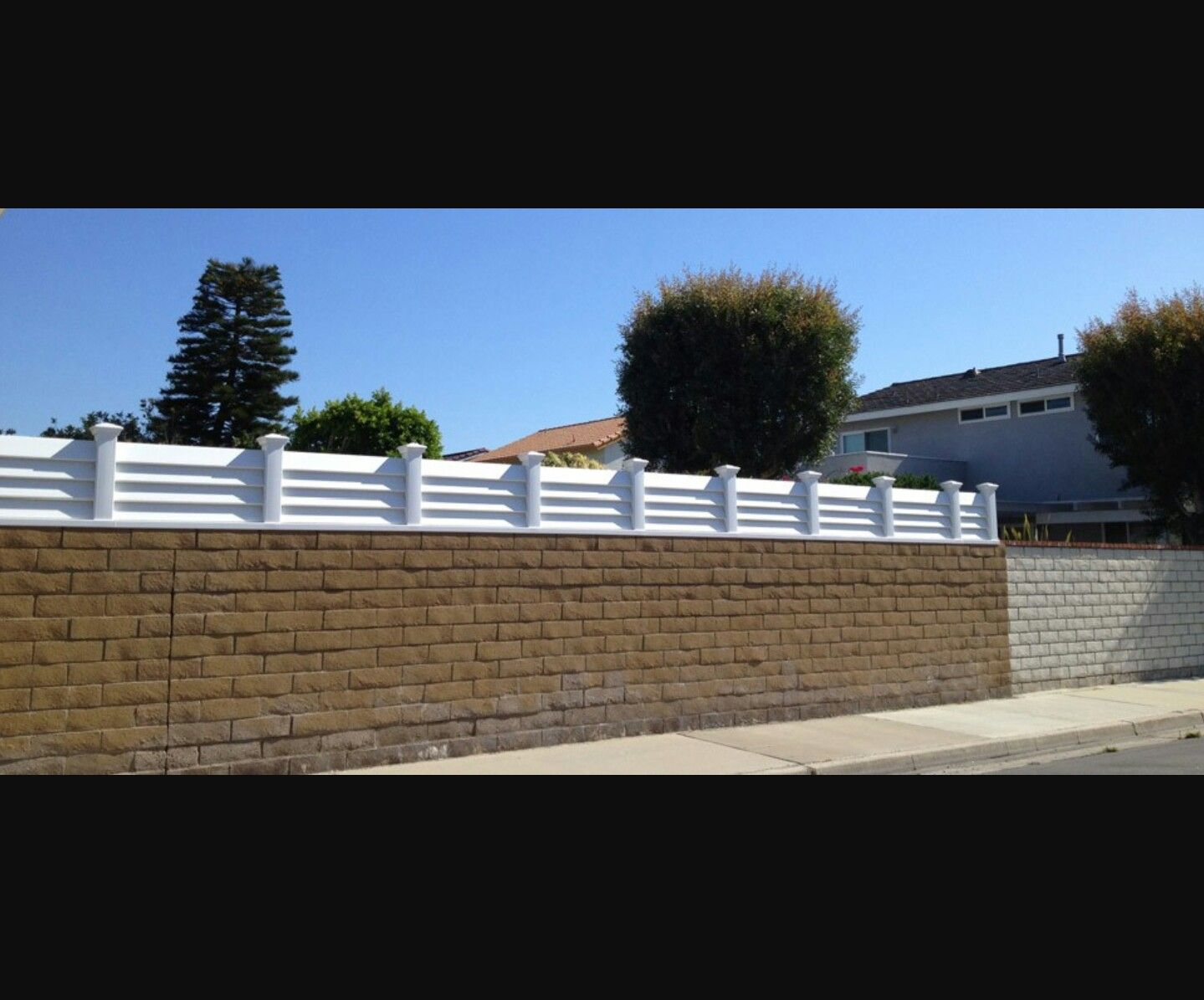 Block wall, fence toppers | Fence toppers, Patio fence