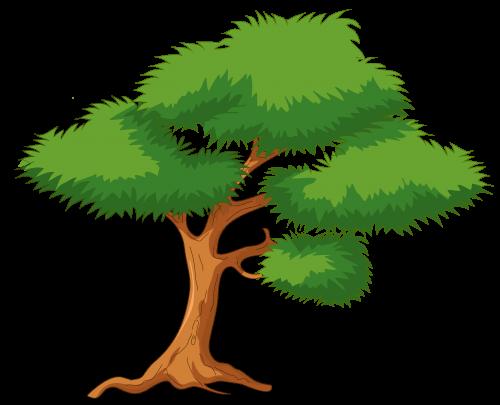 Green Cartoon Tree Png Clip Art Best Web Clipart Cartoon Trees Nature Illustration Tree Drawing