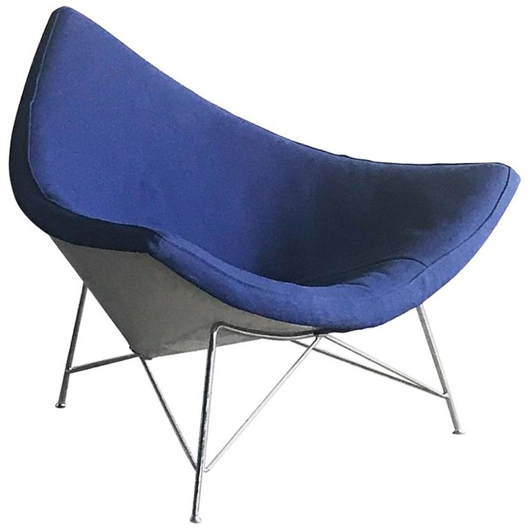 First Edition George Nelson Herman Miller Coconut Lounge Vintage Lounge Chair Mid Century Modern Design Beach Chair Umbrella