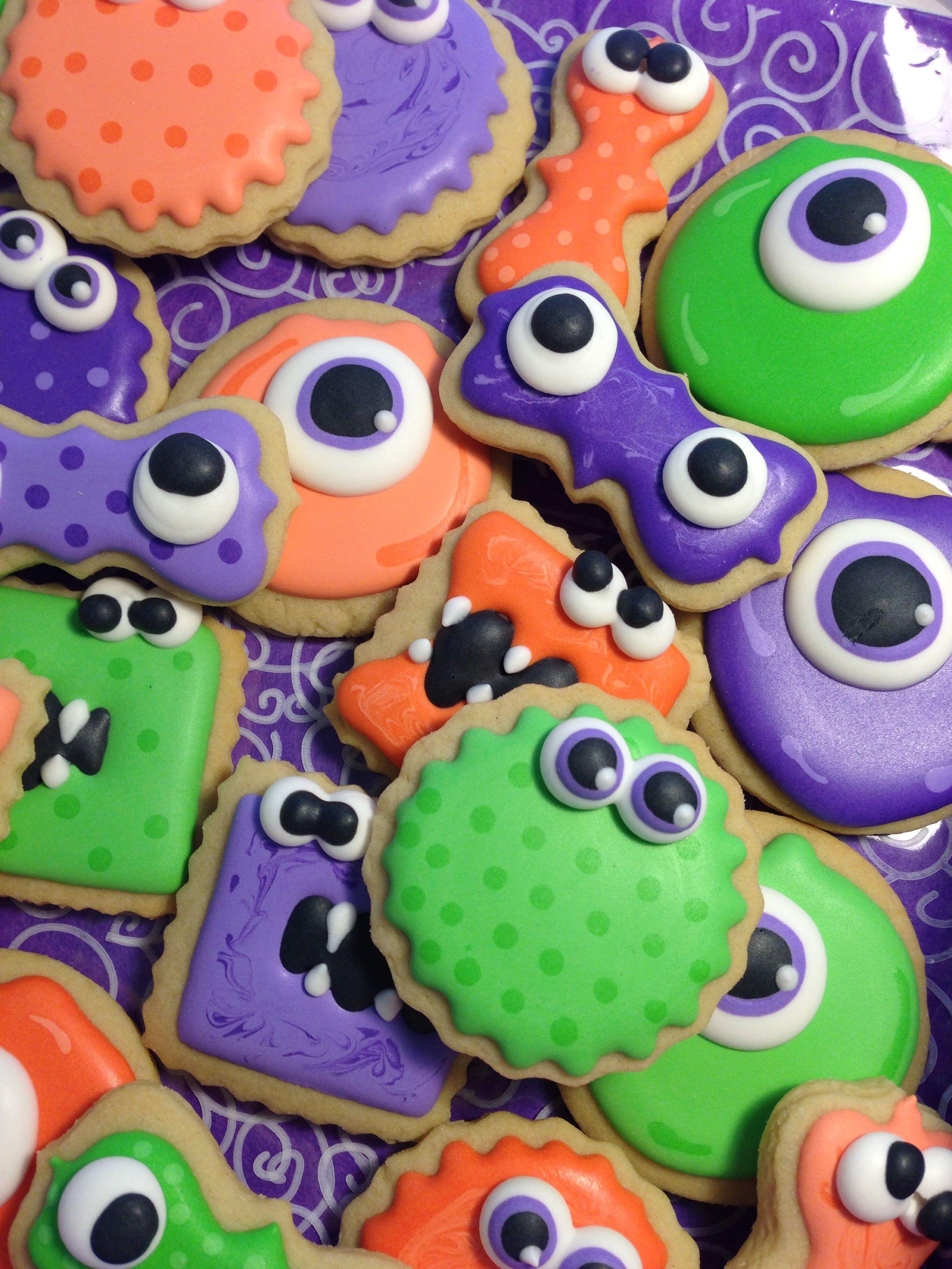 Monster Halloween Cookies: Cute Monster Cookies!