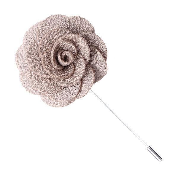Beigeknitmicrofiber flower and a silver pin and barrel. FREE Shipping in the United States! Idealfor weddings, the office, date night...Perfect every single
