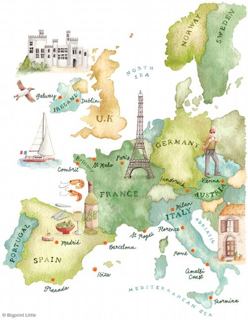 Mapping Life The Universe And Everything Europe Map Illustrated