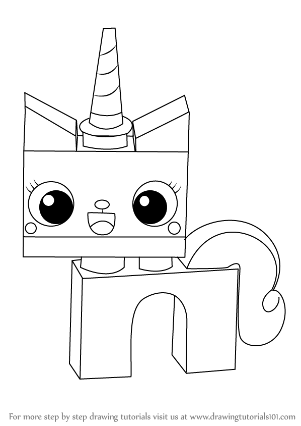 How To Draw Princess Unikitty From The Lego Movie Drawingtutorials101 Com Lego Coloring Pages Lego Coloring Lego Girls