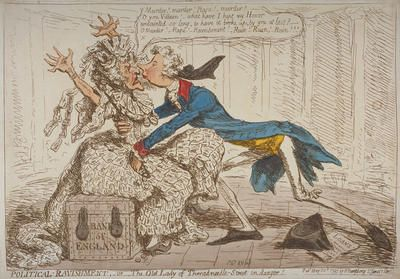 Political Ravishment Or The Old Lady Of Threadneedle Street In