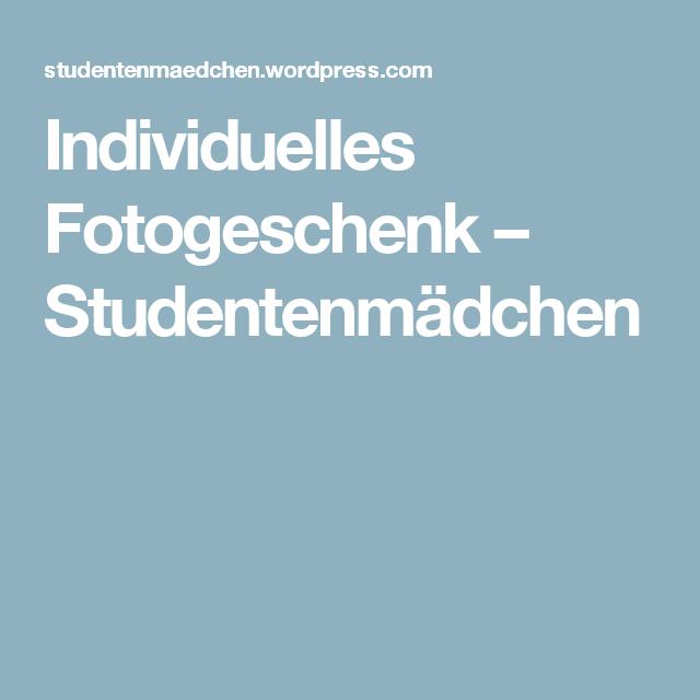 Individuelles Fotogeschenk – Studentenmädchen
