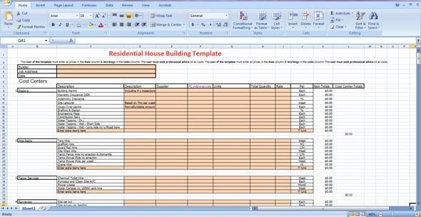 Construction Steps of a House in India DIY  Tecno gear - house renovation budget spreadsheet