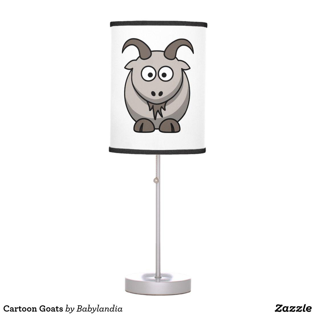 Cartoon Goats Table Lamp Zazzle Com Lamp Cartoon Goats