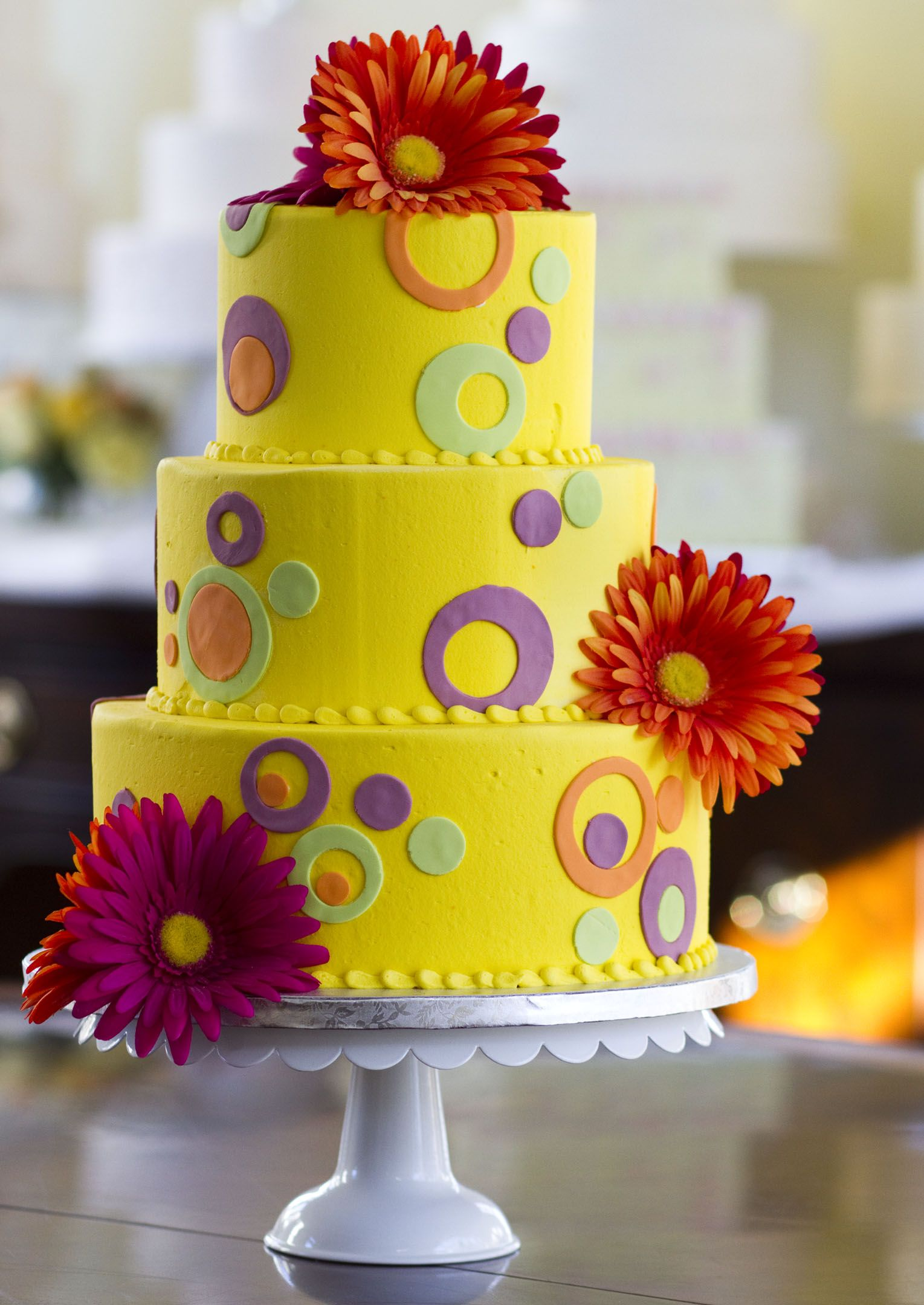 A mod 60\'s-inspired wedding cake! Cake # 001. | Wedding Cakes in ...