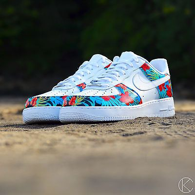 on sale bd06e 43011 ... inexpensive nike air force 1 solarsoft floral custom size 11 vnds af1  hawaiian tropical 55f7f 6e773 ...