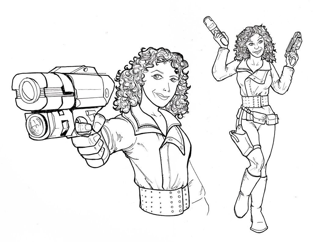 coloring pages bbc doctor who  the good professor river