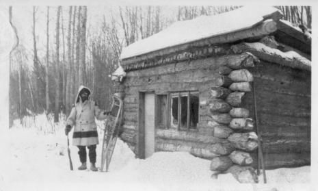 Trapper and cabin near Fort Resolution, NWT, ca. 1928 http://sain.scaa.sk.ca/items/index.php/trapper-and-cabin-near-fort-resolution-nwt