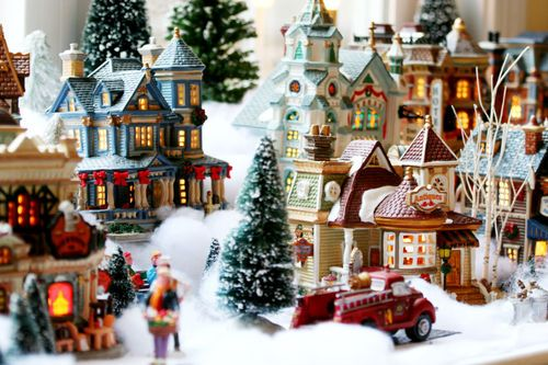 I can\u0027t wait to make a Christmas village when I\u0027m oldor as soon - christmas town decorations