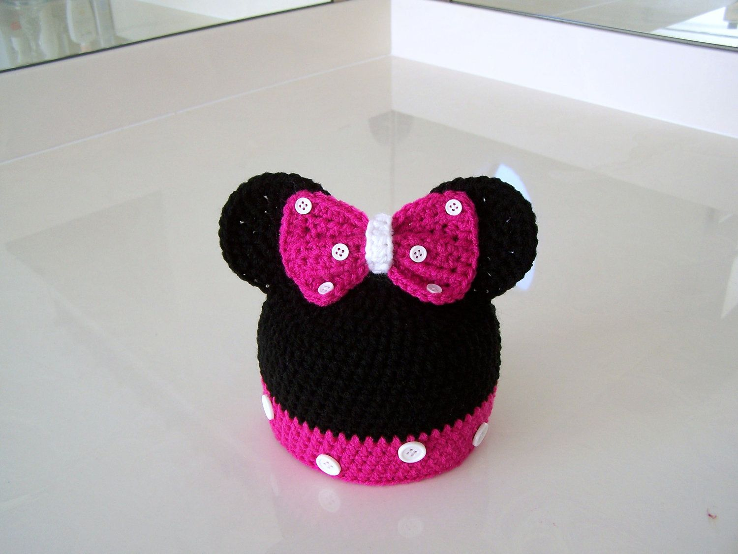 Crochet Minnie Mouse Hat. Crochet Hat | Crochet things | Pinterest ...