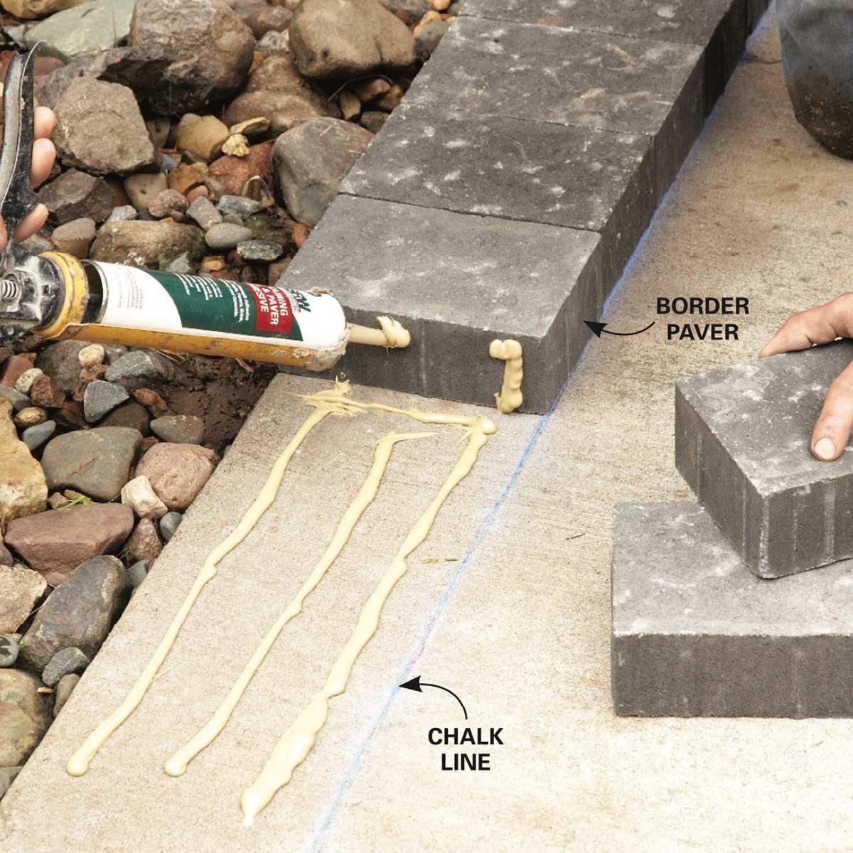 How to Cover a Concrete Patio With Pavers Diy concrete