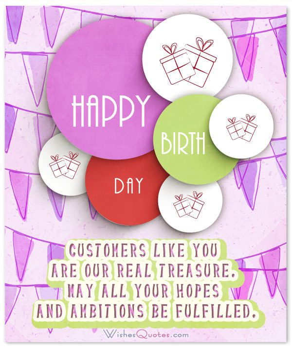 Birthday Wishes for Clients and Customers that Show you Care - sample happy birthday email