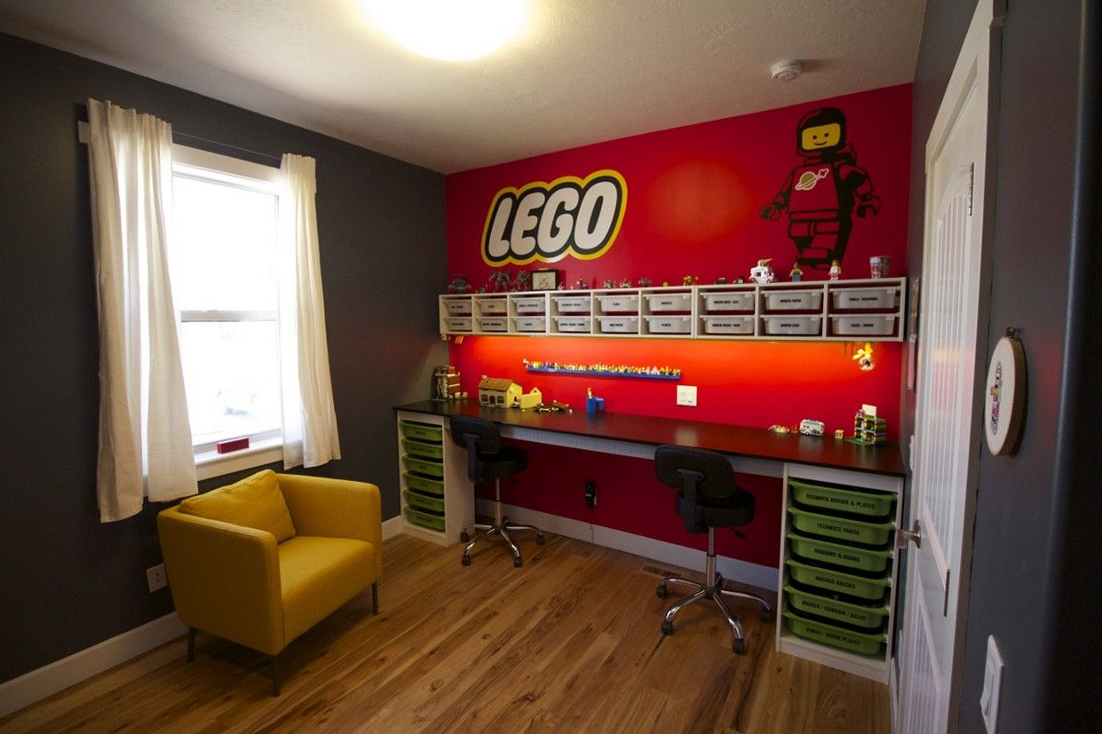 best lego wall storage ideas kids 39 room pinterest kinderzimmer spieltische und jungszimmer. Black Bedroom Furniture Sets. Home Design Ideas
