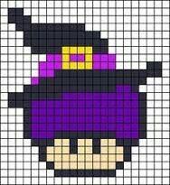 Si Tes Pas Champignon Tes Pas Mario Pixel Art Champignon