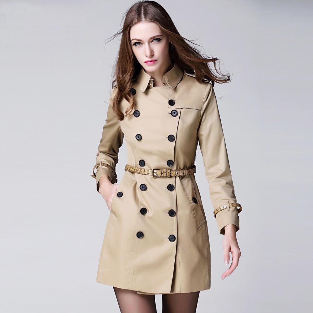 Perfect Womens Trench Coat : Single Breasted Trench Coat For Women ...