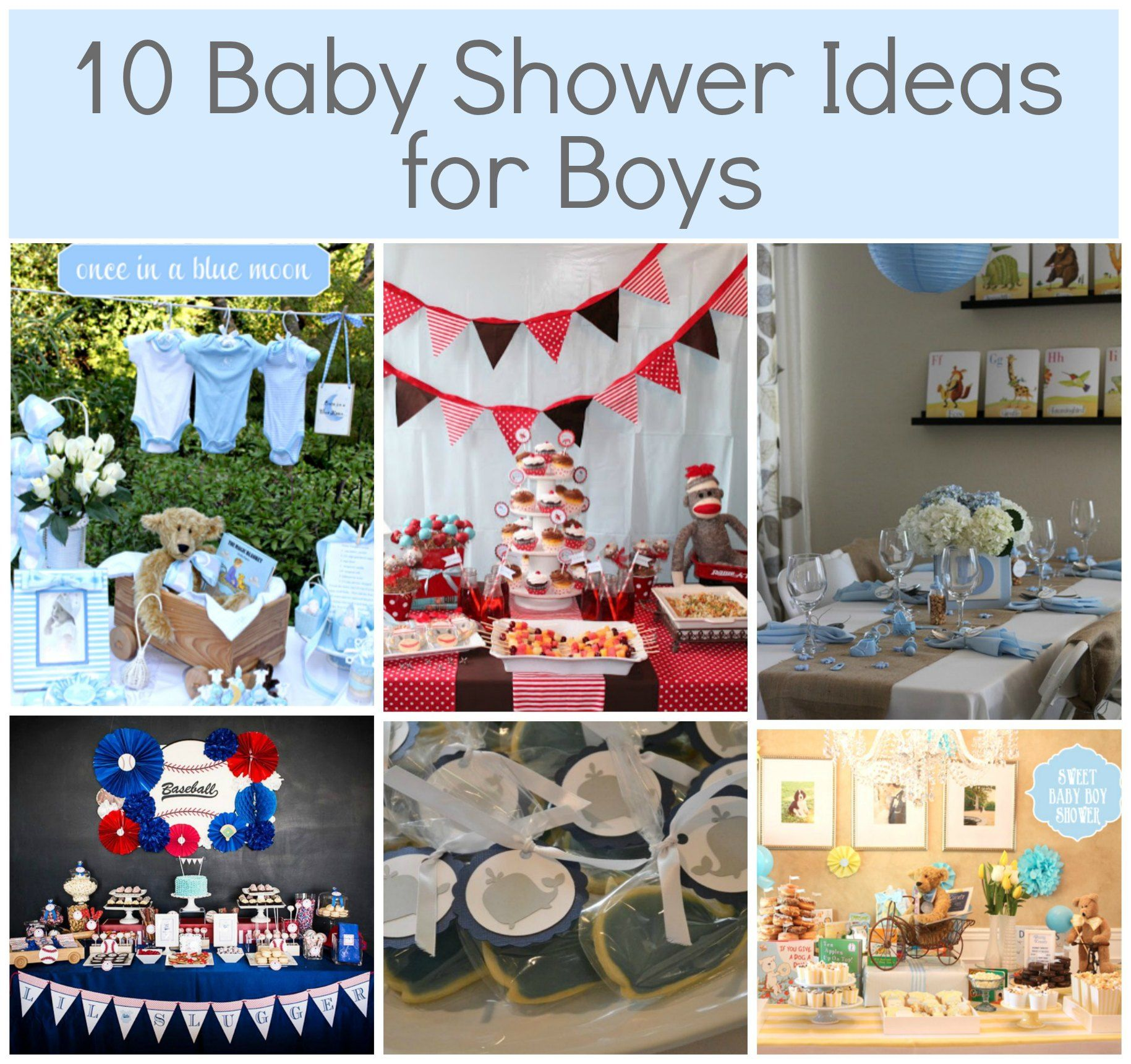 10 Baby Shower Themes For Boys Baby Showers Galore Pinterest