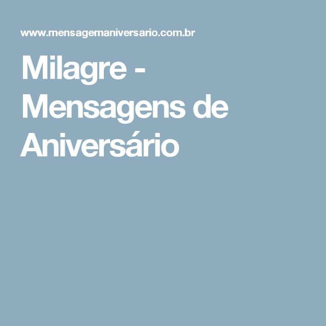 Milagre - Mensagens de Aniversário