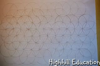 Highhill Homeschool: Geometric Design - Seven Circle Grid Patterns