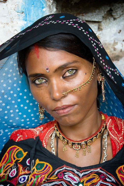 Indian Lady Nose Ring