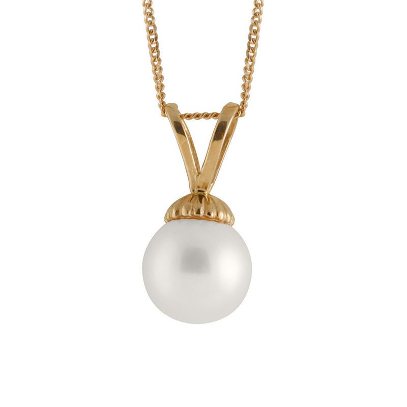 3af69f382a2d8 Womens Cultured Akoya Pearls 14K Gold Pendant Necklace   Products ...
