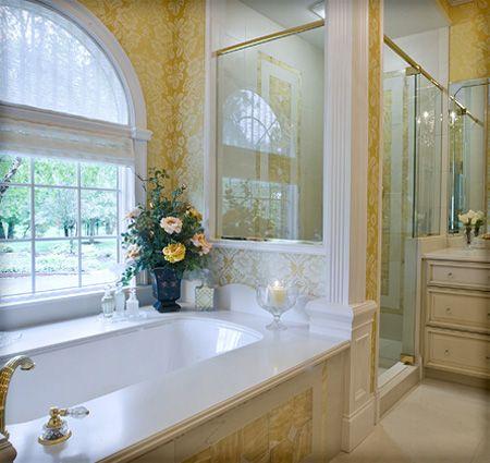 Luxury Bathroom Design Unique Column Of Tile With Glass