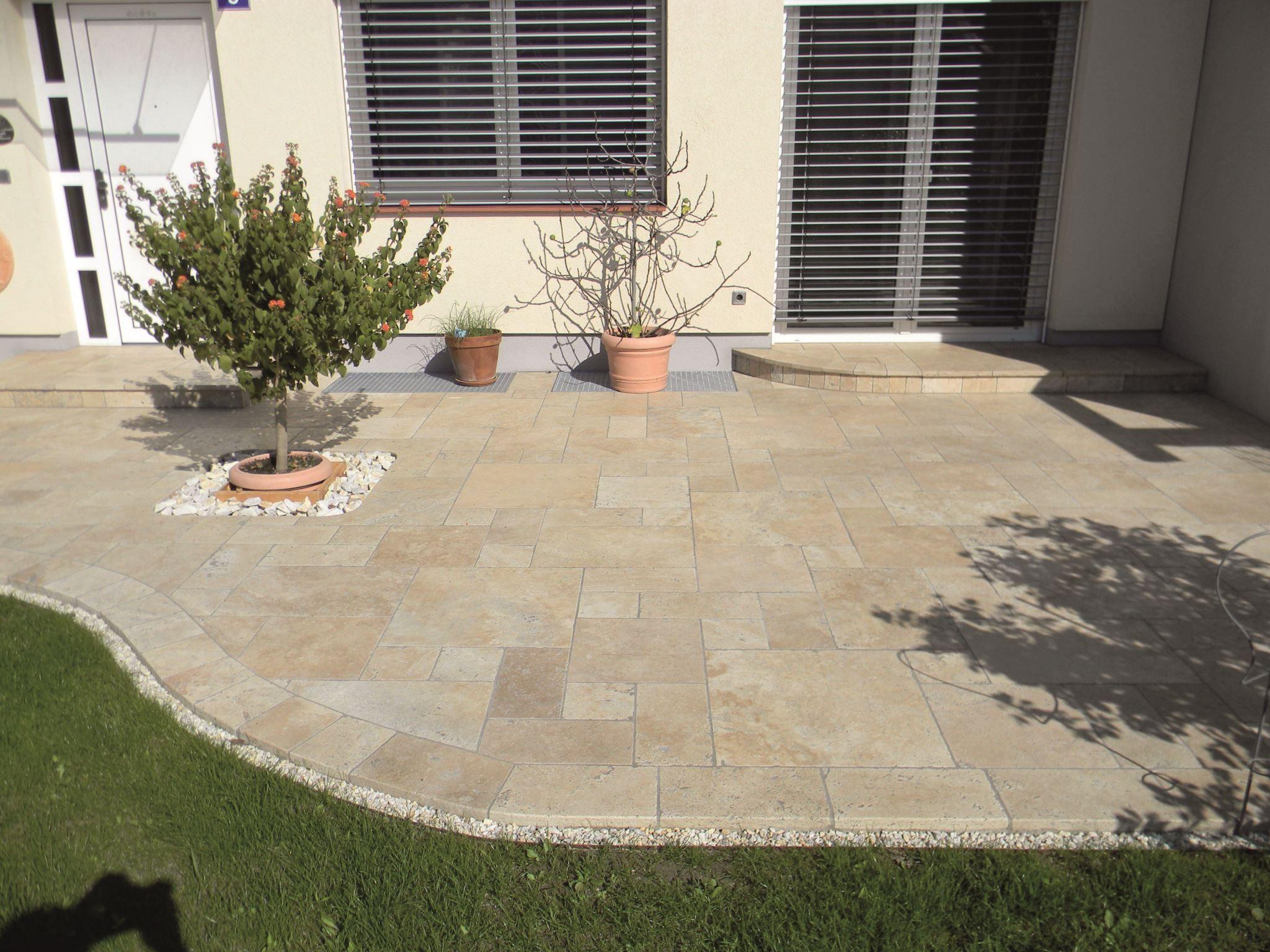 Bodenplatte 3 Cm Travertin Beige Stein Co In 2020 Garten Design Miniaturgarten Landschaftsgestaltung