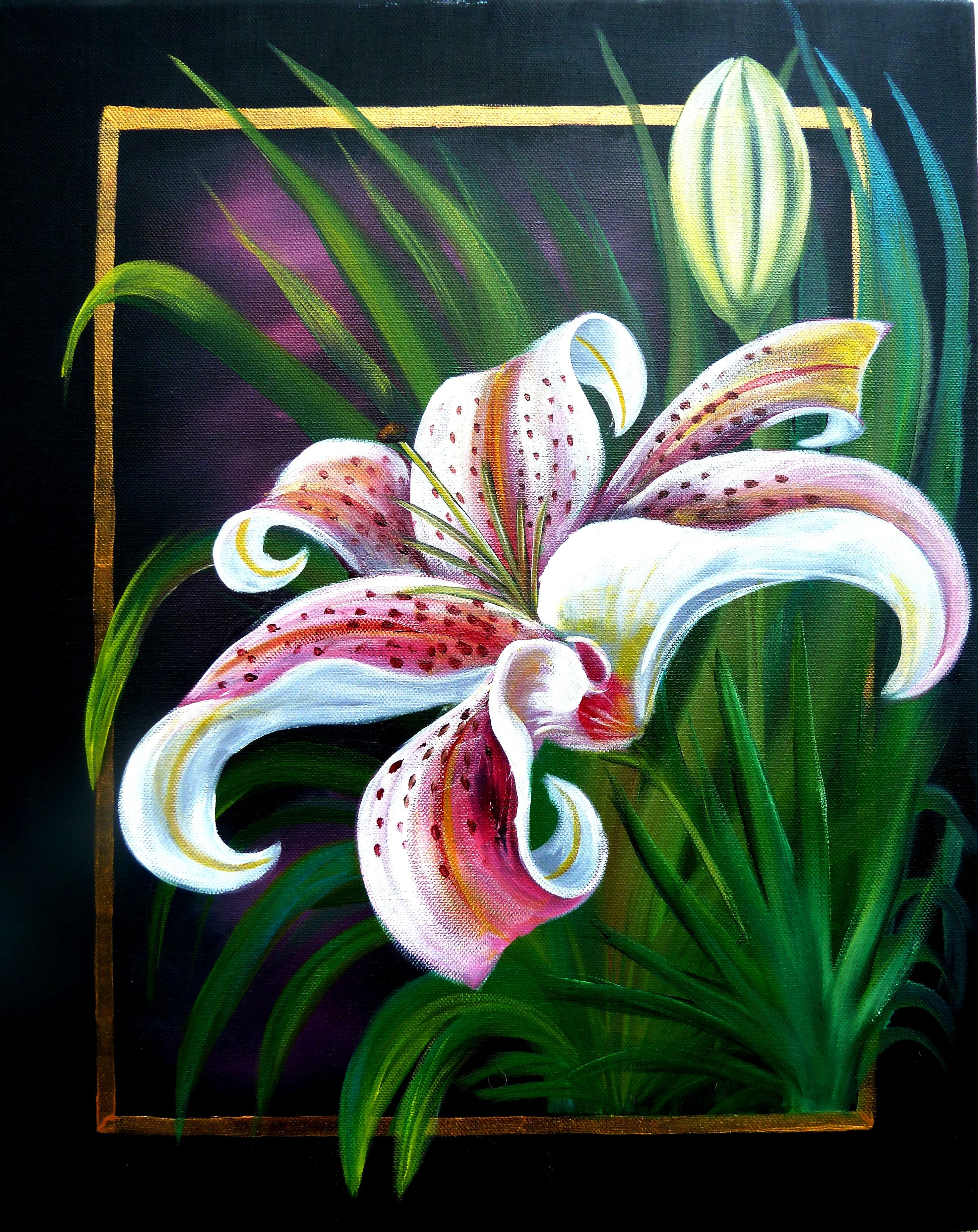 How To Paint A Lily Step By Step With Photos Flower Art