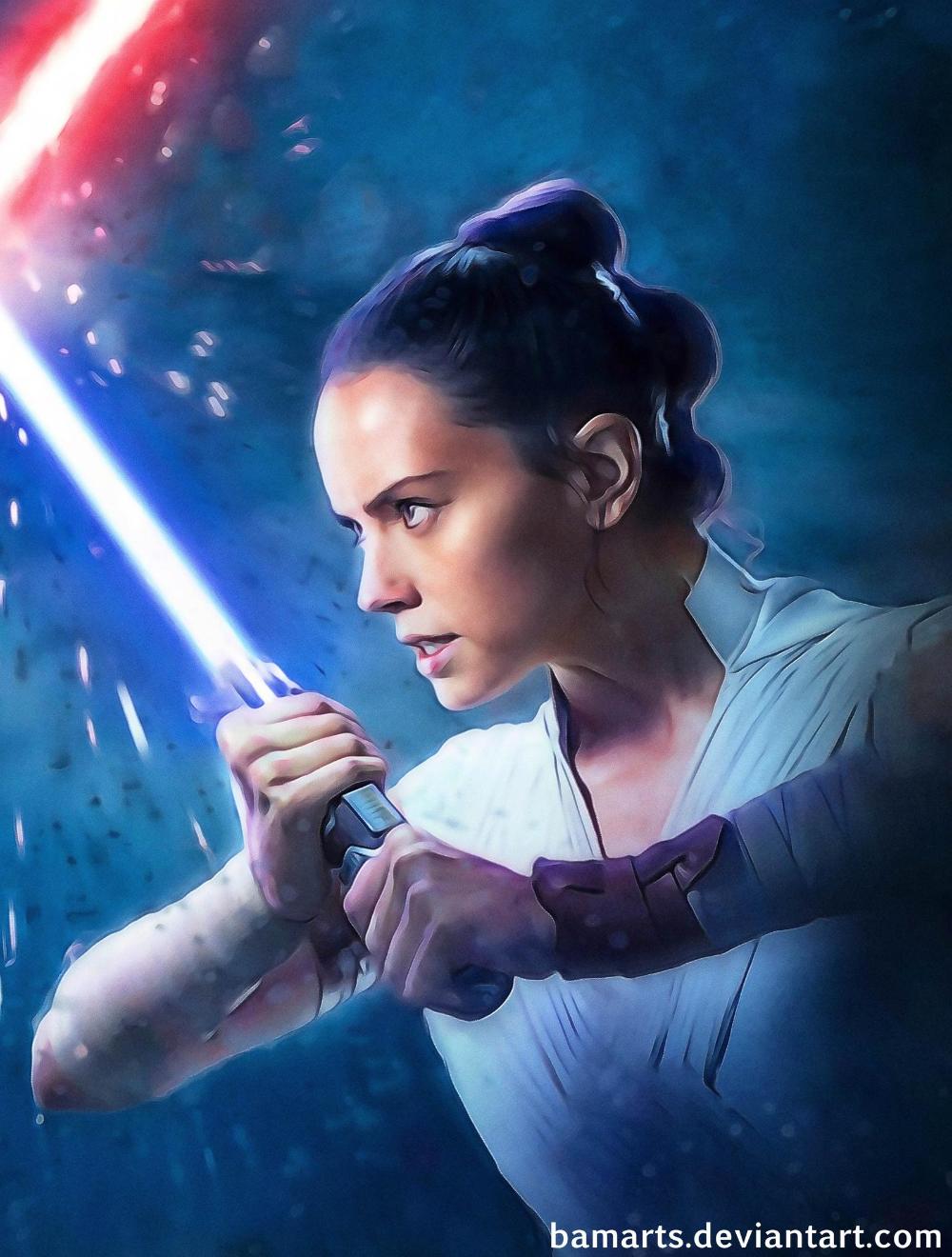 Kylo Rey Star Wars final (detail) by Bamarts on DeviantArt
