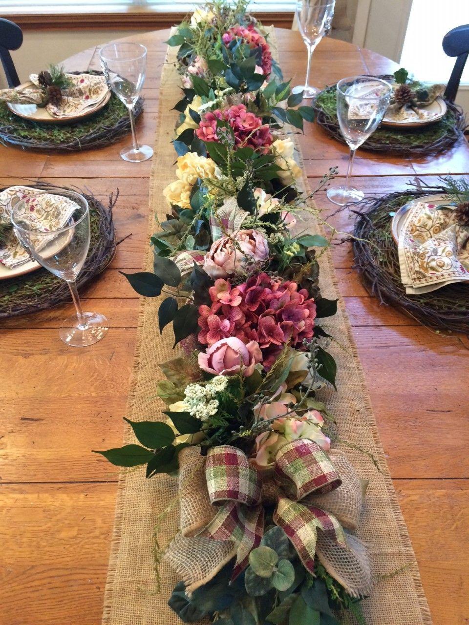75 Luxury Spring Summer Floral Garland Centerpiece At Outdoorzintrendz On Etsy Floral Garland Holiday Wreaths Flower Arrangements