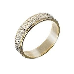 Gold Two Colour Diamond Cut Band Product Number 5900271