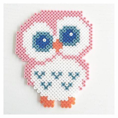 Bügelperlen Perles à repasser Pinterest Perler beads Adorable Owl Perler Bead Patterns