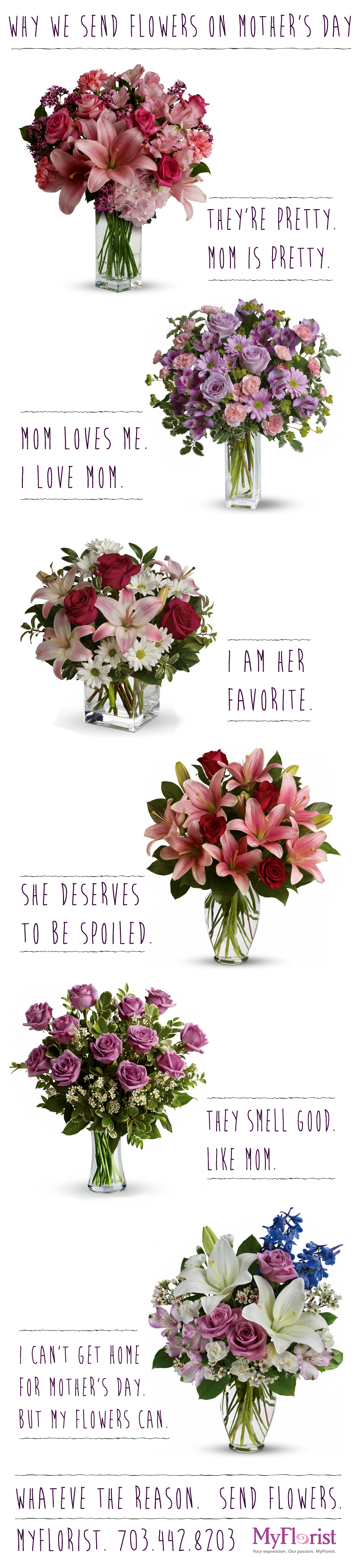 Why we send motherus day flowers mothersday just because i