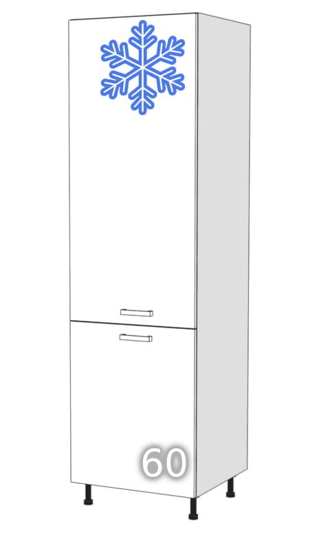GLOSS Upright two-door wardrobe for refrigerator 60 (Page …